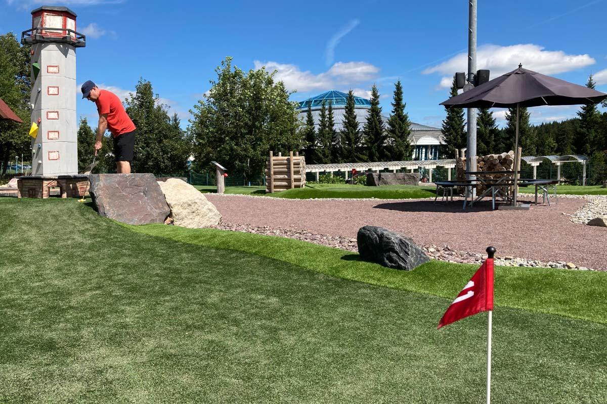 Adventuregolf im Golfkletterpark Oberhof