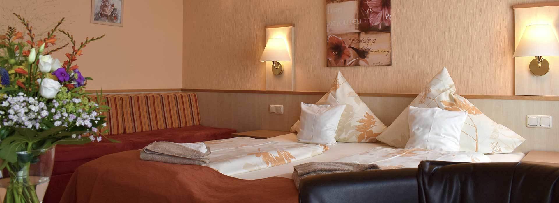 Familienzimmer im Schlossberghotel für Familientreffen
