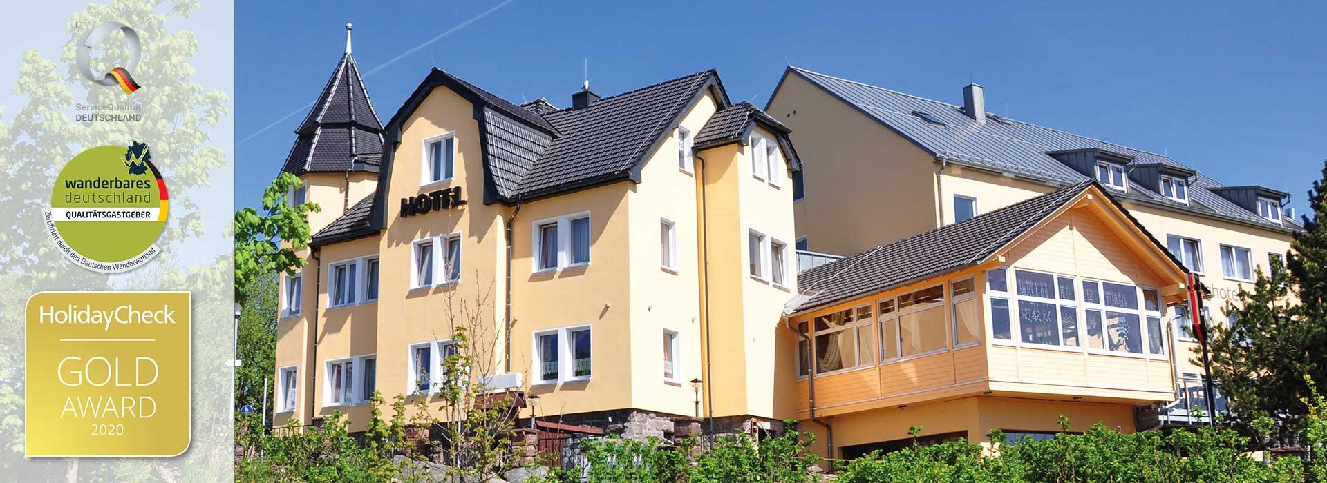 Schlossberghotel Oberhof mit Holidaycheck Award 2020