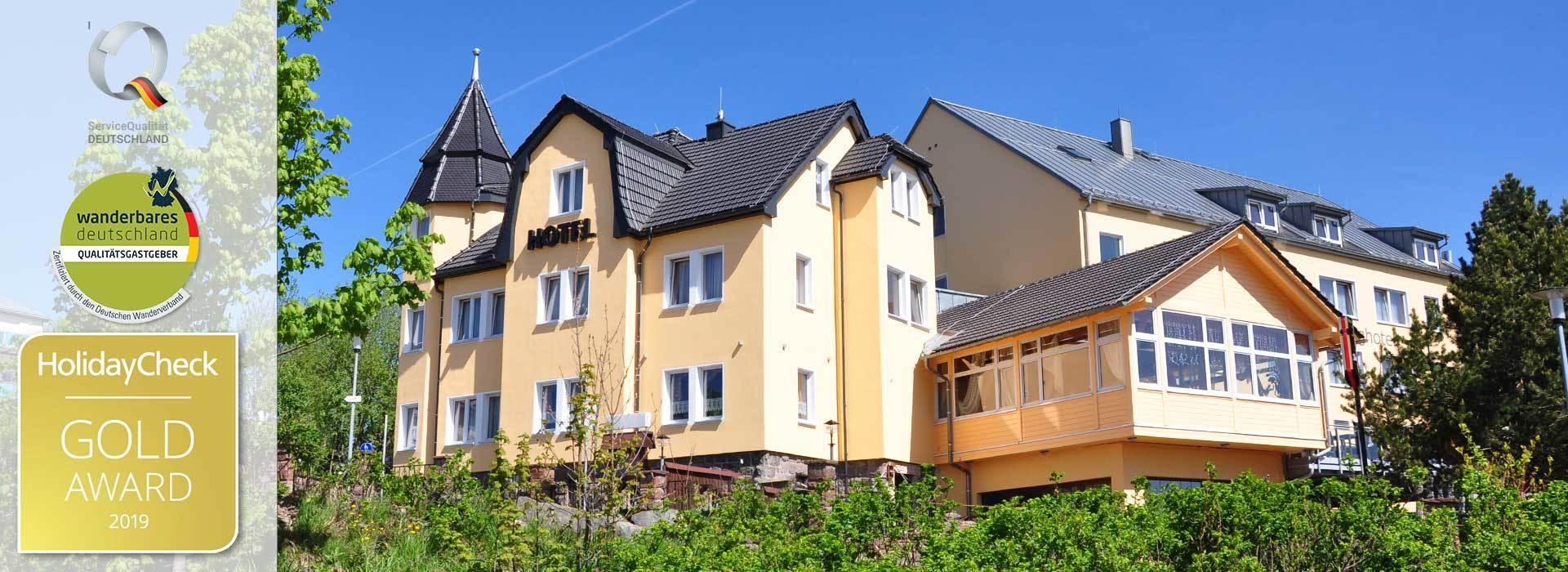 Gruppenhotel in Oberhof, Bild Schlossberghotel mit Auszeichnungen
