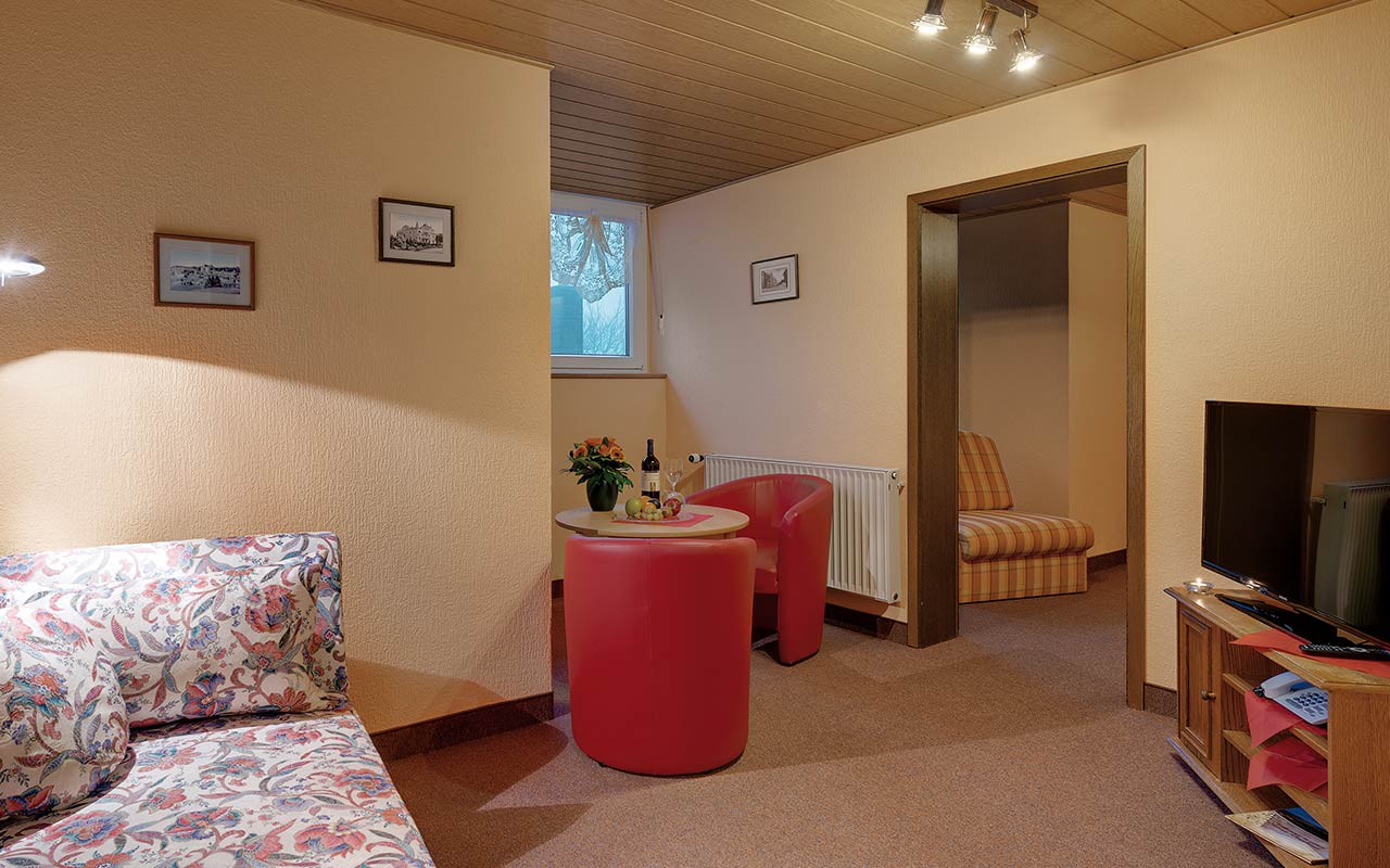 Hotel Thüringenschanze Oberhof, Blick in ein Appartement